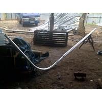 Distributor Bulat 7 Meter Single Ornament Parabola Tiang lampu jalan PJU  3