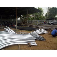 Distributor Bulat 8 Meter Single Ornament Parabola Tiang lampu jalan PJU  3