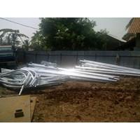 Jual Hexagonal 6 Meter Single parabola Ornament Tiang lampu jalan PJU  2