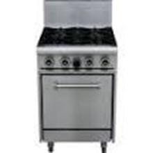 GAS 4 burner range with oven  MPA CUISINE model ARS 24