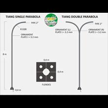 Tiang Lampu Double Parabol