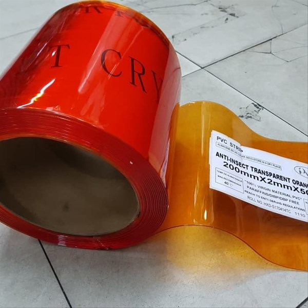 PVC Curtain Anti Insect Orange ( Anti Serangga ) (Lucky 081210121989)