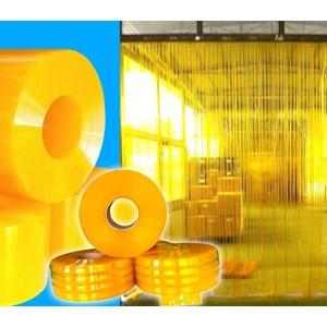 Tirai PVC Curtain Plastik Kuning Medan (Lucky 081210121989)