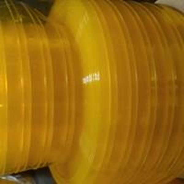 CURTAIN RIBBED DOUBLE YELLOW (Lucky 081210121989)