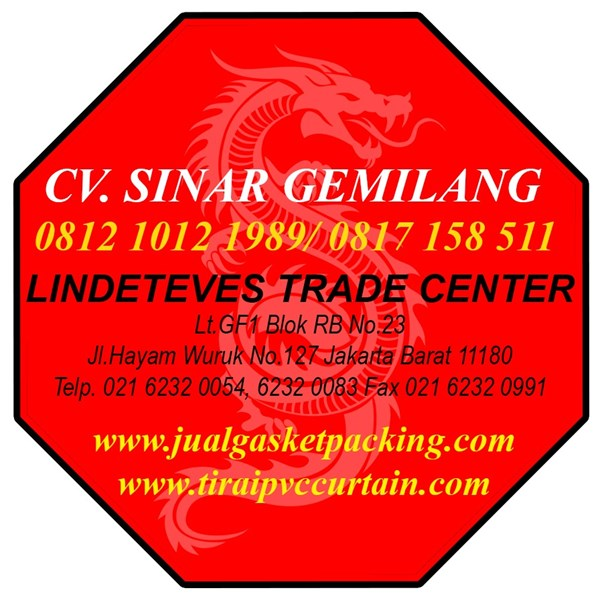Tirai PVC Curtain Red (Lucky 081210121989)