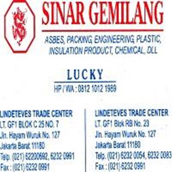 Gland Packing Tombo Nichias 2030 (Lucky 081210121989)