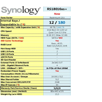 Nas Synology Rs18016xs+ 1