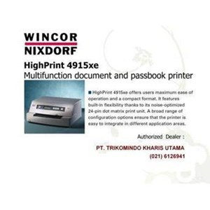 PRINTER PASSBOOK WINCOR 4915XE