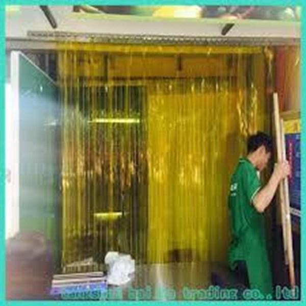 Tirai pvc kuning Palembang Hubungi 081295460660