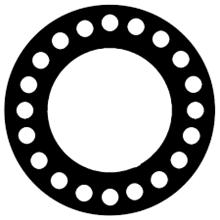 Gasket Neoprene rubber 081295460660