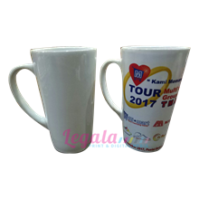MUG COATING V-SHAPE WHITE 16 OZ LEGALA