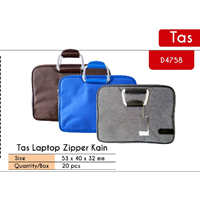 Tas Laptop Zipper Kain