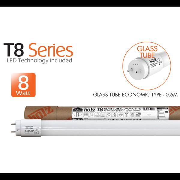 GLASS TUBE ECONOMIC TYPE - 0.6M - 8W