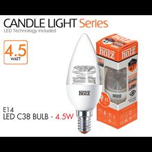 HOLZ LED E14 C38 BULB Transparant