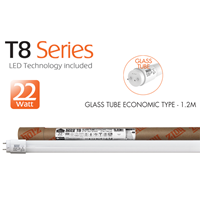 GLASS TUBE ECONOMIC TYPE - 1.2M - 22W 1