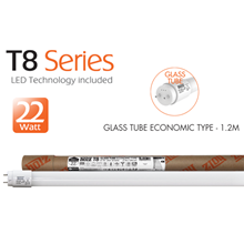 GLASS TUBE ECONOMIC TYPE - 1.2M - 22W