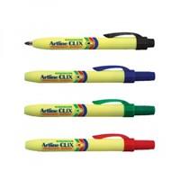 Jual Spidol dan Highlighter Artline Permanent Marker Clix New EK73