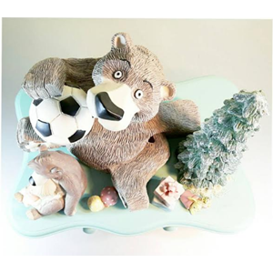 Patung Bear Family On The Drawer