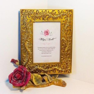 frame rose red gold