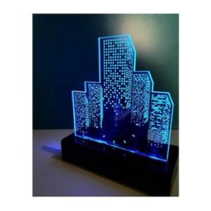 Souvenir Lamp + jam akrilik