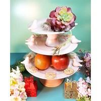 Souvenir cake tray + ornamen 1