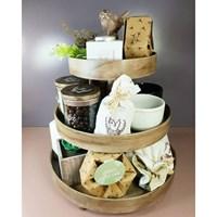 Jual Souvenir tray kayu rotan 2