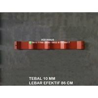 ATAP UPVC ECOROOF MERAH DOUBLE LAYER