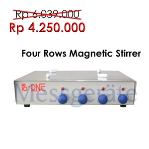 Four Row Magnetic Stirrer