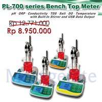Bench Top pH Meter With Stirrer model PL 700 PVS