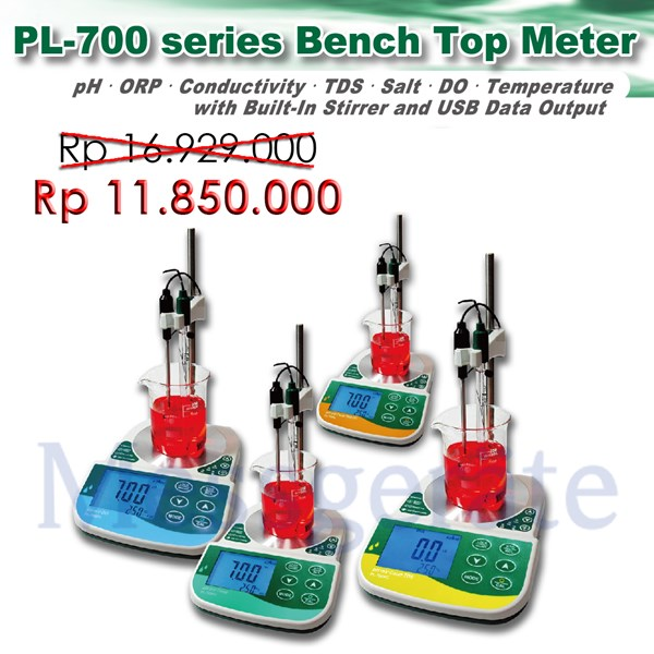 Bench Top pH & Conductivity With Stirrer  model PL 700 PCS