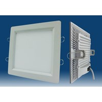 Lampu Downlight LED Kotak 12 Watt Cool White CLEAR