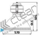 Lampu Industri -Highbay  Induksi TZ-GK2 250 Watt 2