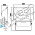 Lampu sorot luminaire Induksi TZ-SD4 150 Watt 2