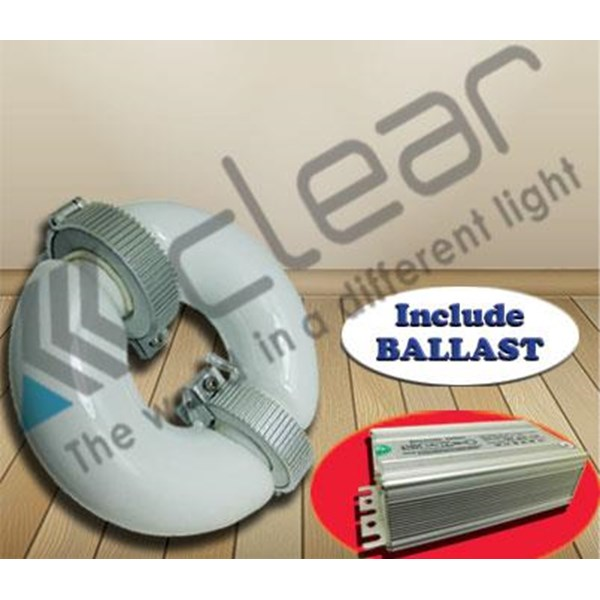 Lampu bohlam Induksi bulat 100 Watt + Ballast Clear Energy