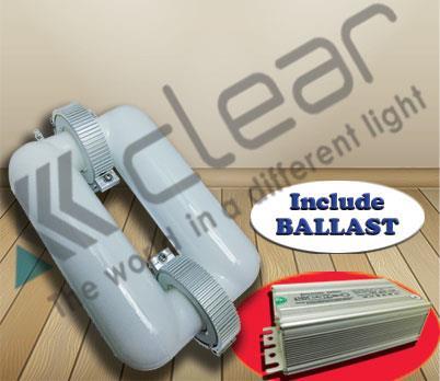 Jual Lampu Bohlam Induksi Kotak 250 Watt Ballast Clear