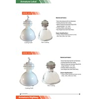 Distributor Lampu Industri Highbay Induksi HDK 525 150 watt Coating- Clear  3