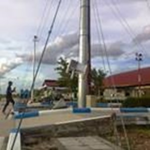 Tiang Lampu Highmast 20 M Manual Lowering ( Circle Model )