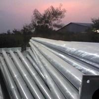 Jual Tiang Lampu PJU Bulat Single Ornamen - 9 Meter  2