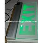 Lampu LED Exit Transparan  1