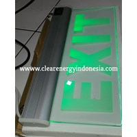 Lampu LED Exit Transparan