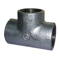 Tees Plain (T) - Galvanized Dan Black Malleable Iron Pipe Fitting