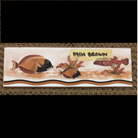 Jual Lis Keramik Fish Brown