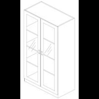 Alat Laboratorium Umum Cupboard Opening Polywood (Glass Door)  1