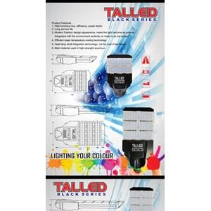 Lampu jalan PJU LED Talled Black Edition -40W AC