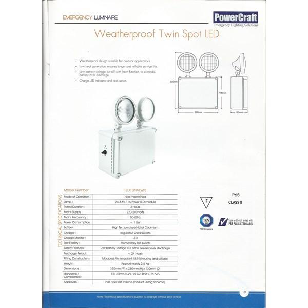 Lampu Emergency LED Powercraft TED 10NM (WP)
