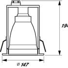 Kap Lampu Downlight Philips FBS111 C MAX15W-E27 220-240V 2