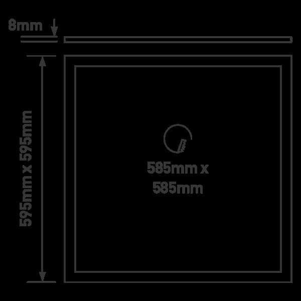 Lampu LED plafond panel 60x60 Luceco