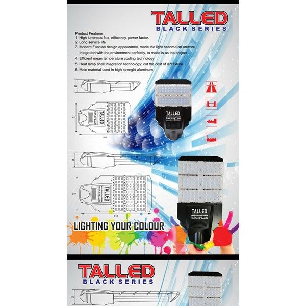 Lampu Jalan PJU LED Talled Black -70W AC