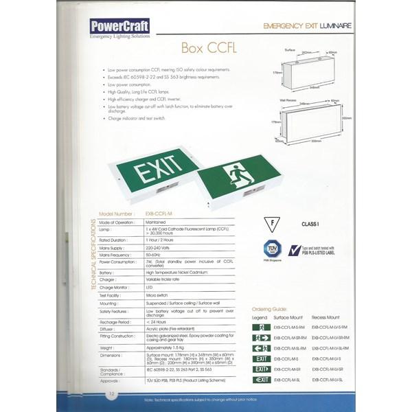 Lampu LED Powercraft EXIT BOX - CCFL-M