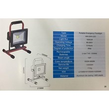 Lampu Sorot LED / Flood Light Himawari -20W DC Portable